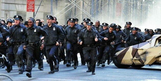 police running